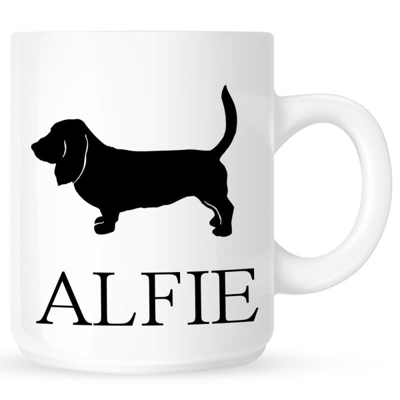 Personalised Basset Hound Coffe Mug