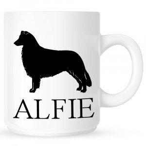 Personalised Border Collie Coffe Mug