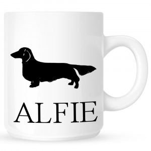 Personalised Long Haired Dachshund Coffe Mug