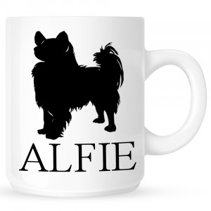 Personalised Papillon Coffe Mug