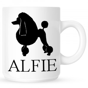 Personalised Poodle Coffe Mug