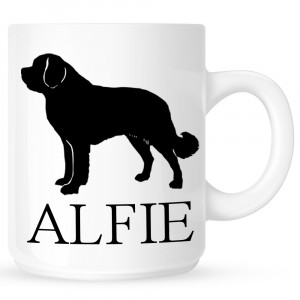 Personalised St Bernard Coffe Mug