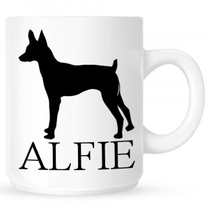 Personalised Toy Fox Terrier Coffe Mug