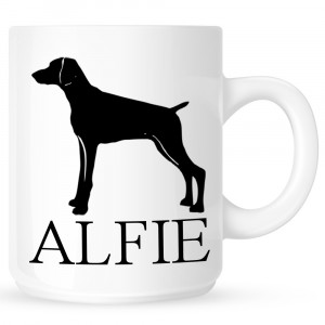 Personalised Weimaraner Coffe Mug