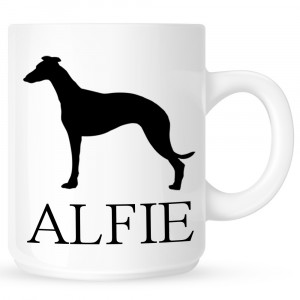 Personalised Whippet Coffe Mug